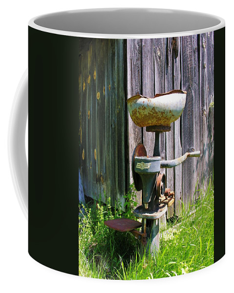 Antique Coffee Mug featuring the photograph Antique Cream Separator by Sherman Perry