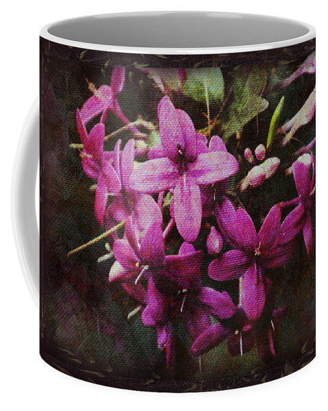 #tapestry Coffee Mug featuring the photograph Antique Floral by Debbie Nobile