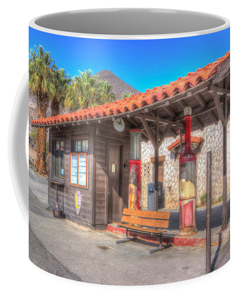 Antique Coffee Mug featuring the photograph Antique Gas Station by Heidi Smith