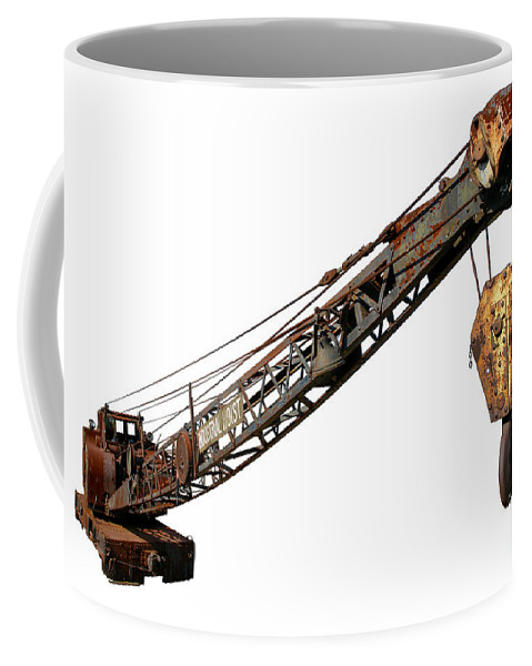 Hoist Coffee Mug featuring the photograph Antique Industrial Hoist by Olivier Le Queinec