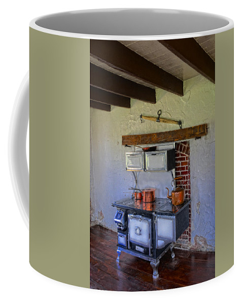 Stove Coffee Mug featuring the photograph Antique Stove by Dave Mills