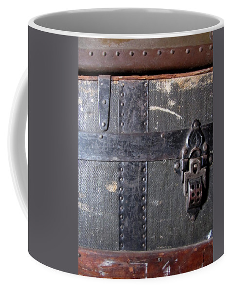Vintage Coffee Mug featuring the photograph Antique Trunks 4 by Anita Burgermeister