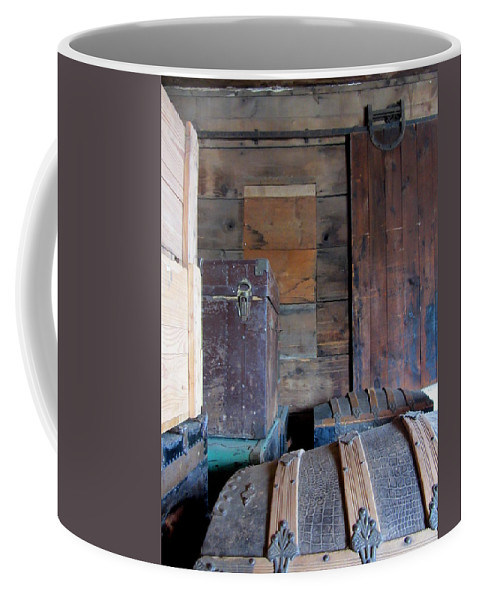 Vintage Coffee Mug featuring the photograph Antique Trunks 8 by Anita Burgermeister