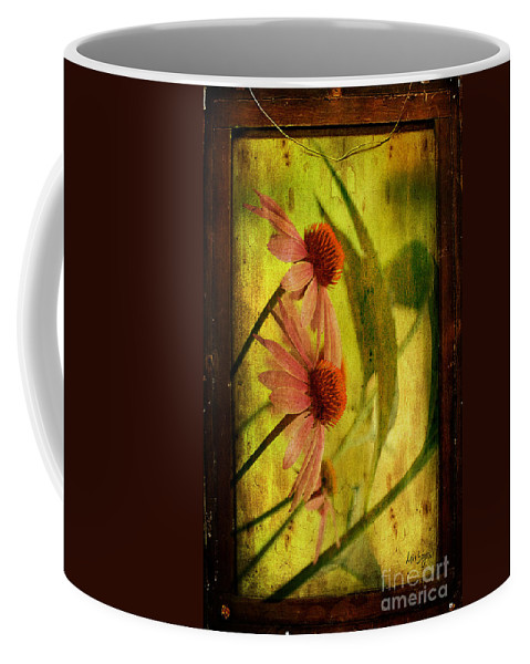 Floral Coffee Mug featuring the photograph Antiqued Cone Flowers by Lois Bryan