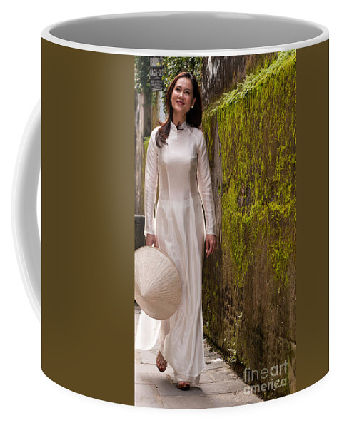 Vietnam Coffee Mug featuring the photograph Ao Dai 03 by Rick Piper Photography