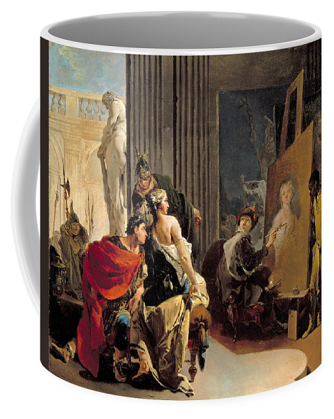 Giovanni Battista Tiepolo Coffee Mug featuring the painting Apelles Painting The Portrait Of Campaspe by Giovanni Battista Tiepolo