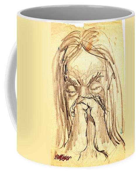 Apostle's Prayers Coffee Mug featuring the drawing Apostle's Prayers by Seth Weaver