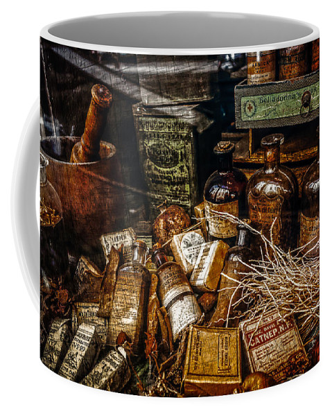 Nawlins Coffee Mug featuring the photograph Apothecary by Melinda Ledsome