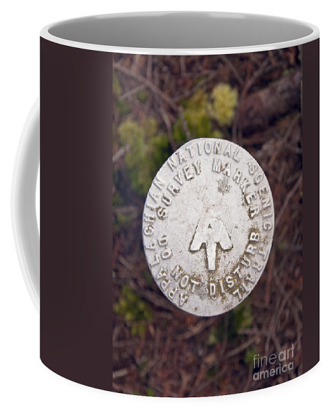 Appalachian Trail Coffee Mug featuring the photograph Appalachian Trail Historic Marker by Glenn Gordon