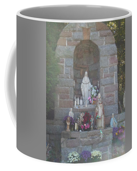 Apparition Coffee Mug featuring the photograph Apparition Of Virgin Mary by Art Dingo