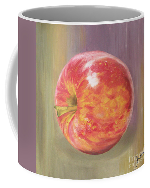 Apple Coffee Mug featuring the painting Apple by Graciela Castro