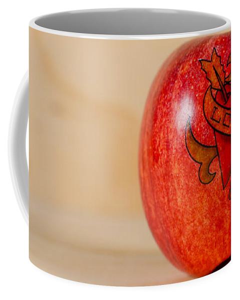 Red Coffee Mug featuring the photograph Apple Love by Jonas Luis