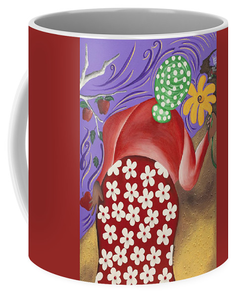 Sabree Coffee Mug featuring the painting Apples by Patricia Sabree