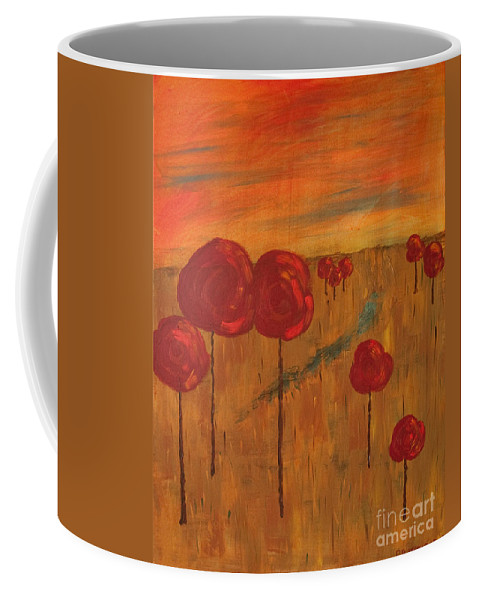 Wright Coffee Mug featuring the painting Appletrees by Paulette B Wright