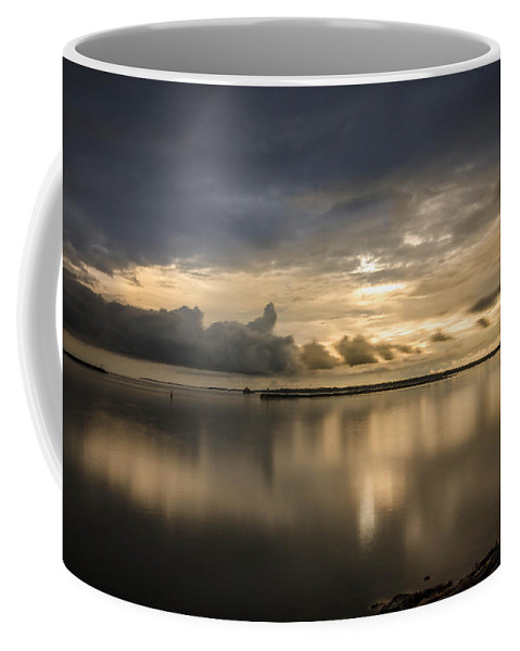 Clouds Coffee Mug featuring the photograph Approaching The Golden Hour by Guy Whiteley