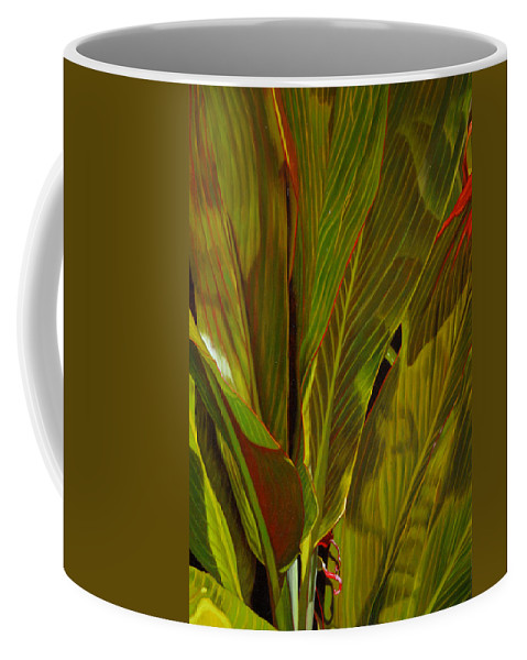 Plant Coffee Mug featuring the painting April by Thu Nguyen