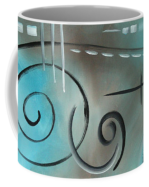 Sophisticated Coffee Mug featuring the painting Aqua Mist By Madart by Megan Duncanson