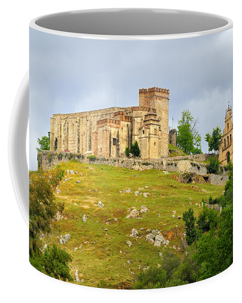 Palace Coffee Mug featuring the photograph Aracena Castle Sxiii by Guido Montanes Castillo