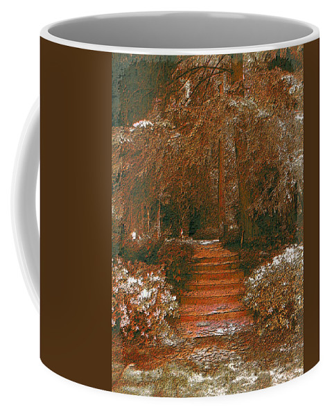 Arbor Coffee Mug featuring the digital art Arbor Steps by Tim Allen