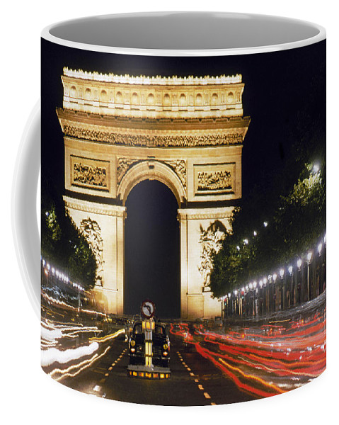 Arch Coffee Mug featuring the photograph Arc De Triomphe by Granger
