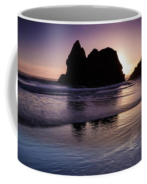 Sunset Coffee Mug featuring the photograph Arcadia Silhouette by Rick Berk