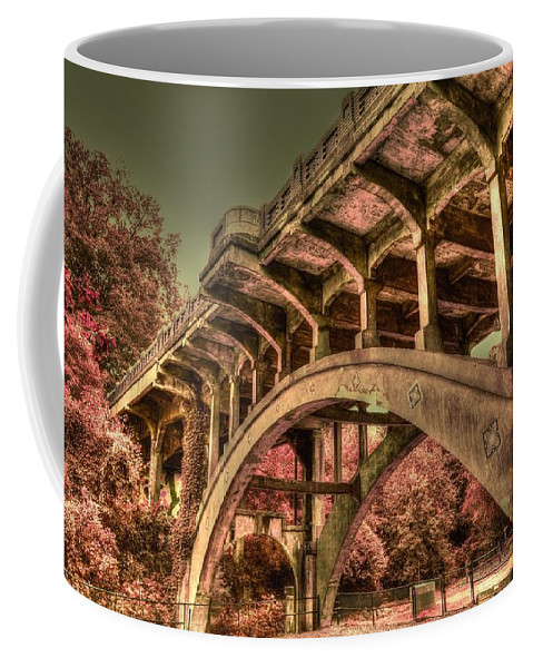 Colorful Bridge Coffee Mug featuring the photograph Arch Support by Dennis Baswell