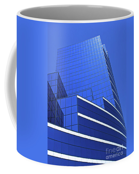 Architecture Coffee Mug featuring the photograph Architectural Blues by Ann Horn