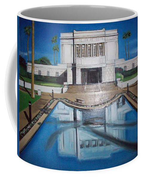 Coffee Mug featuring the painting Architectural Landscape by Jude Darrien