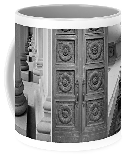 Architectural Coffee Mug featuring the photograph Architectural Triptych by Patricia Strand