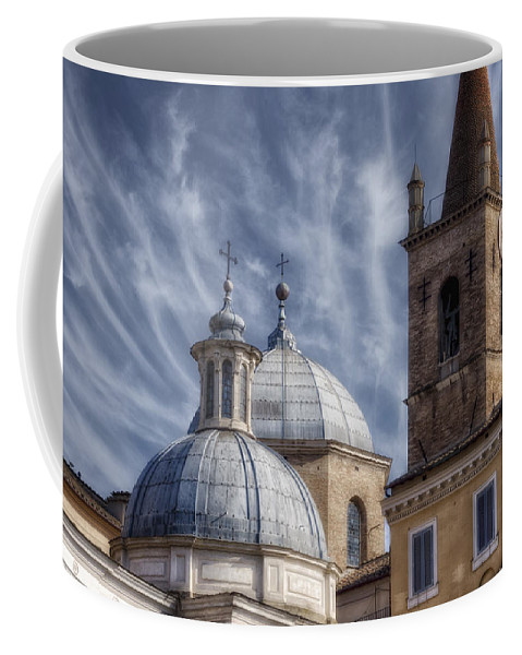 Aerial Coffee Mug featuring the photograph Architecture Del Popolo by Joan Carroll