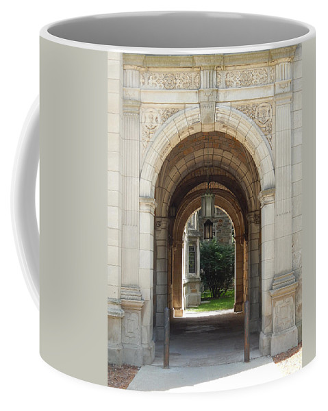 Photography Coffee Mug featuring the photograph Archway To Courtyard by Phil Perkins