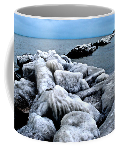 Freezing Coffee Mug featuring the photograph Arctic Waters by Frozen in Time Fine Art Photography