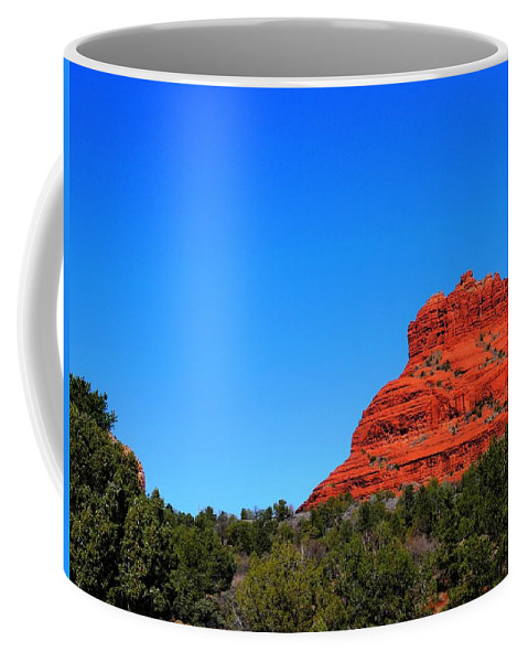 Arizona Coffee Mug featuring the photograph Arizona Bell Rock Hdr by John Straton