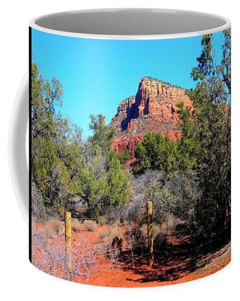 Arizona Coffee Mug featuring the photograph Arizona Bell Rock Valley N3 by John Straton