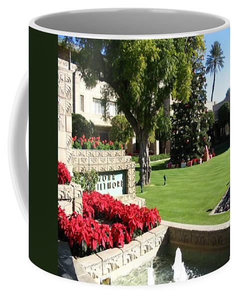 Arizona Coffee Mug featuring the photograph Arizona Biltmore Christmas by Chris Fulks