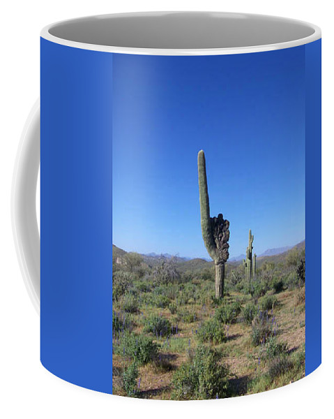 Sahuaro Coffee Mug featuring the photograph Arizona Is Number One by Kathy McClure