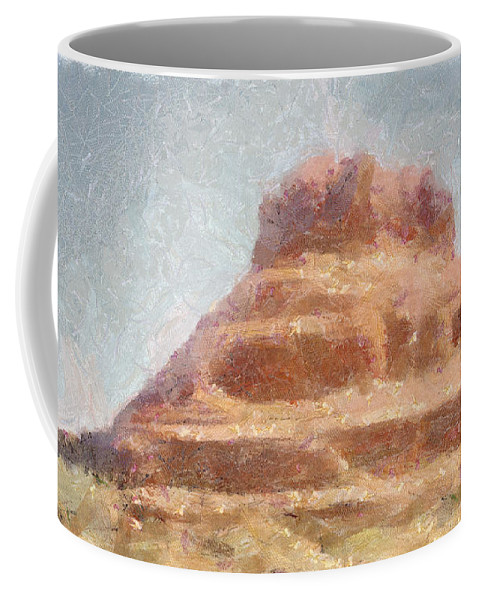 United States Of America Coffee Mug featuring the painting Arizona Mesa by Jeffrey Kolker