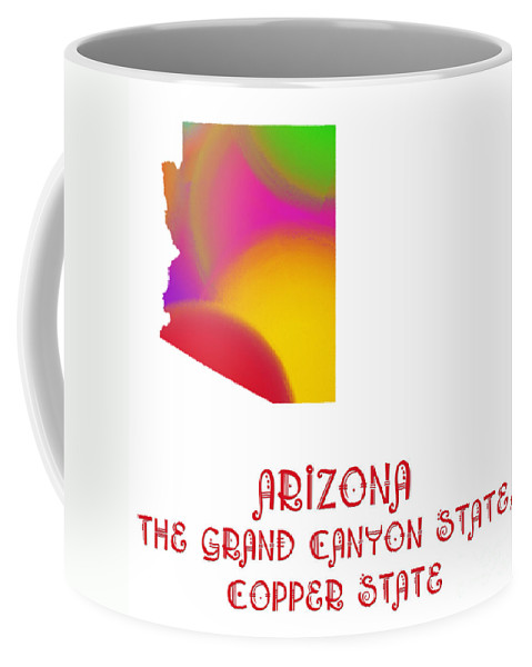Andee Design Coffee Mug featuring the digital art Arizona State Map Collection 2 by Andee Design