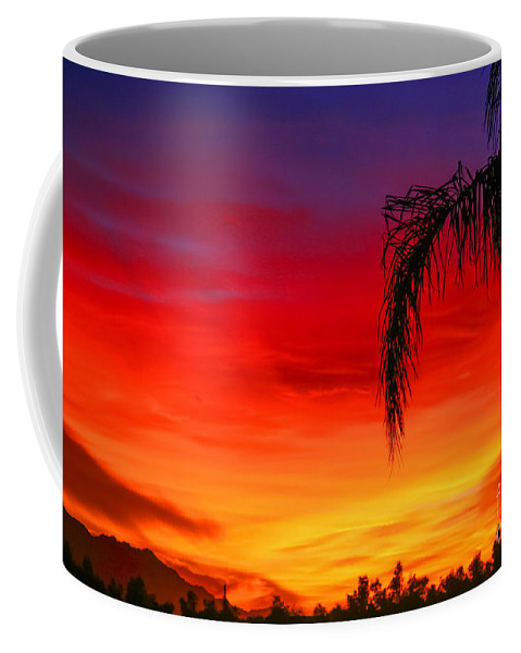 Arizona Coffee Mug featuring the photograph Arizona Sunset by Nicholas Pappagallo Jr