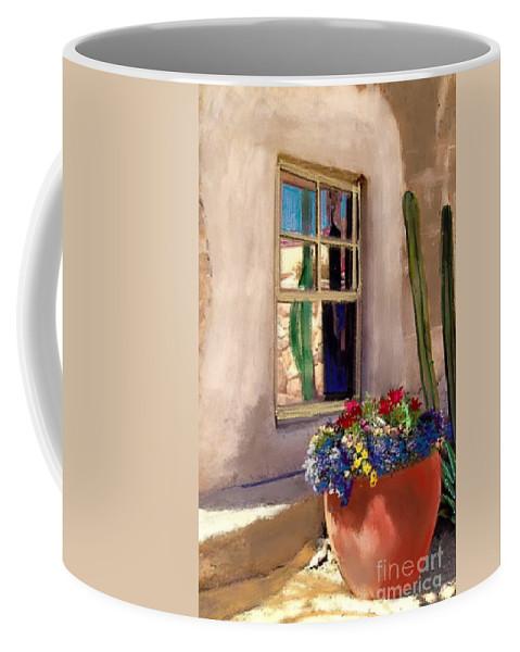 Arizona Window Coffee Mug featuring the painting Arizona Window by Craig Nelson