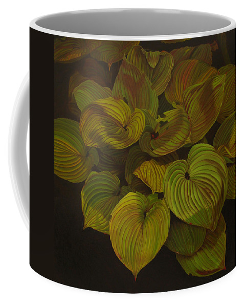 Plants Coffee Mug featuring the painting Arkansas Green by Thu Nguyen