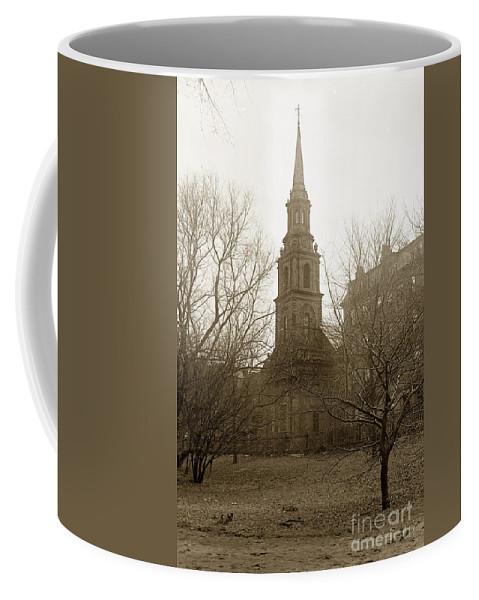 Arlington Coffee Mug featuring the photograph Arlington Street Church Unitarian Universalist Boston Massachusetts Circa 1900 by California Views Archives Mr Pat Hathaway Archives