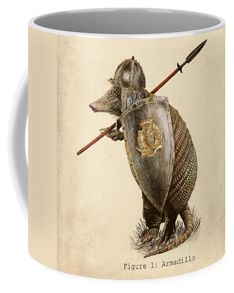Armadillo Coffee Mug featuring the drawing Armadillo by Eric Fan