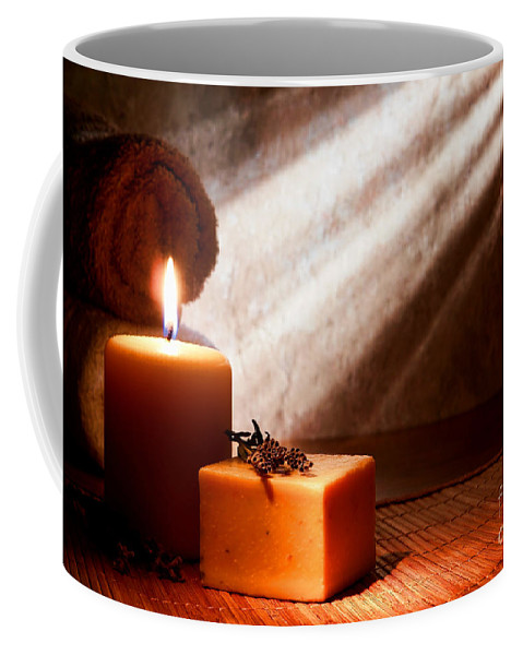 Aromatherapy Coffee Mug featuring the photograph Aromatherapy Bath Soap by Olivier Le Queinec
