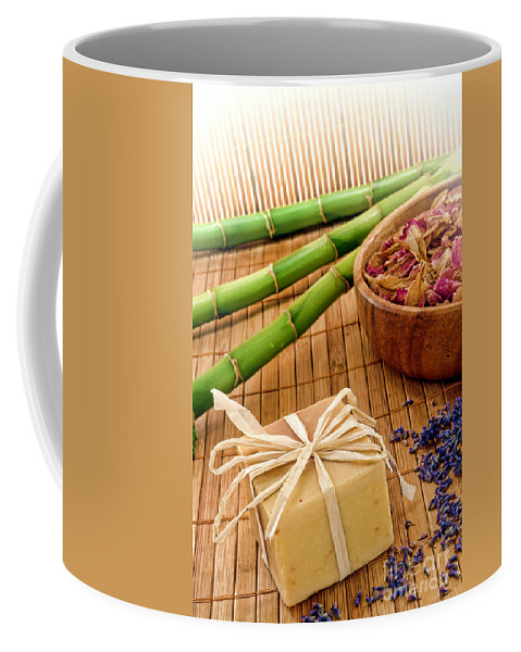 Aromatherapy Coffee Mug featuring the photograph Aromatherapy Soap Bar by Olivier Le Queinec
