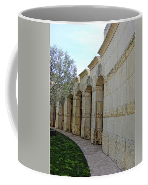Architecture Coffee Mug featuring the photograph Around The Bend by Donna Blackhall