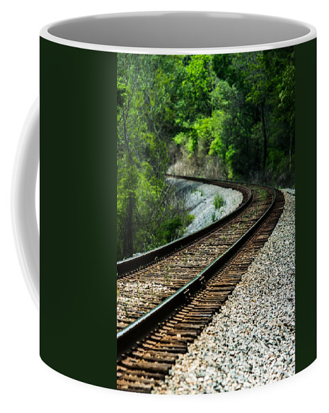 Train Coffee Mug featuring the photograph Around The Bend by Parker Cunningham