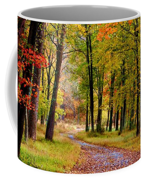 Around The Bend Coffee Mug featuring the photograph Around The Bend by Patti Whitten