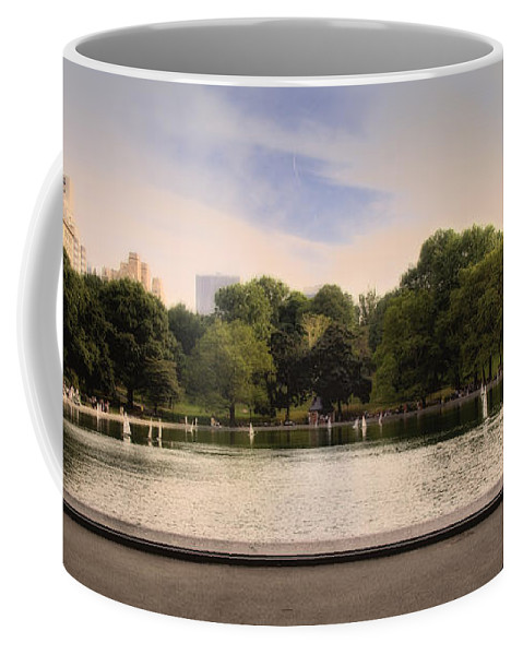 Pond Coffee Mug featuring the photograph Around The Central Park Pond by Madeline Ellis