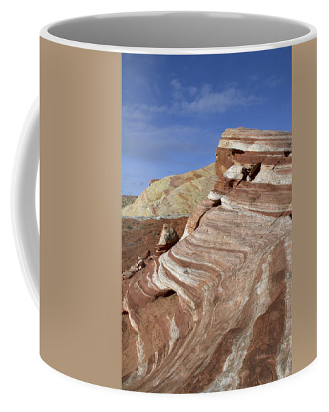Fire Wave Coffee Mug featuring the photograph Around The Wave by Debby Richards